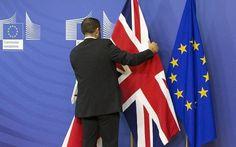 EU brexit referendum flags