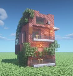 Cubic style house I built : Minecraft Big Minecraft Houses, Minecraft Starter House, Minecraft Building Designs, Minecraft House Plans, Minecraft City Buildings, Minecraft Interior Design, Minecraft Structures, Minecraft Room, Minecraft Architecture