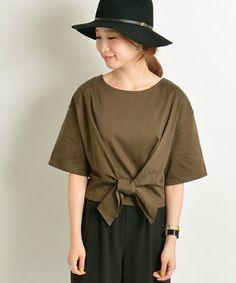 Khaju(カージュ)の《予約》Khaju: ウエストリボンTEE■(Tシャツ/カットソー)|詳細画像