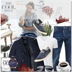 Men's Casual Style by elena-777s on Polyvore featuring Timberland, Salvatore Ferragamo, Breed, Dsquared2, Uniqlo, Giorgio Armani, PLANT, menswear, men and fallwinter2015