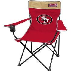 NFL San Francisco 49ers Coleman Folding Chair With Carrying Case : Amazon.com : Sports & Outdoors