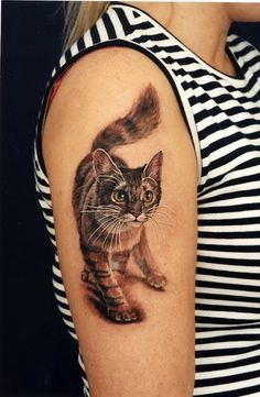 kitty by Tomas Brudvick, Bergen, Norway | cat tattoos