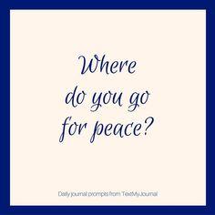 Where do you go for peace? http://ift.tt/2jZhjjV