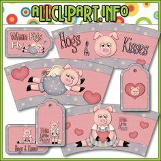 Hogs & Kisses Paper Craft Bundle