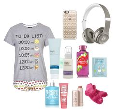 """Nighttime Routine"" by sydneysapphire ❤ liked on Polyvore featuring Topshop, Fresh, Beats by Dr. Dre, Casetify, Soap & Glory, Victoria's Secret PINK, Skyn Iceland and Alöe"