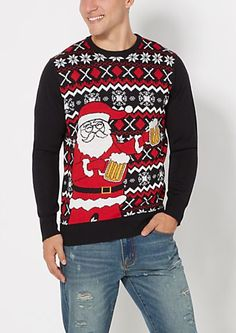 Santa Coat Ugly Holiday Sweater | rue21 | Holidays | Pinterest ...