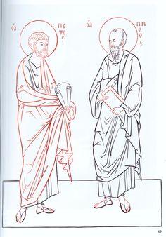 Апостолы Петр и Павел прорись