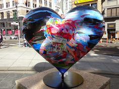 Ed Abillano: Today's Image - 2014 SF Hearts - Kids Today Images, Heart For Kids, Wine Glass, Street Art, Hearts, Heart, Wine Bottles