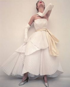 Vogue UK, 1950 Photographer: Norman Parkinson Model: Jean Patchett Christian Dior, Spring 1950 Couture