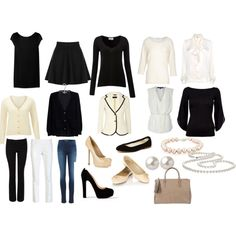 French Wardrobe Capsule | fashion look from October 2012 featuring Yves Saint Laurent dresses ...