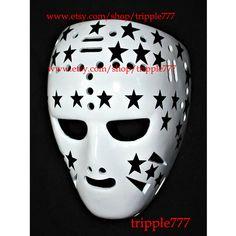 Hockey mask, Hockey goalie, NHL ice hockey, Roller Hockey, Hockey goalie mask, Hockey helmet Gilles Gilbert mask HO44