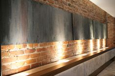 clever & simple #brick walls