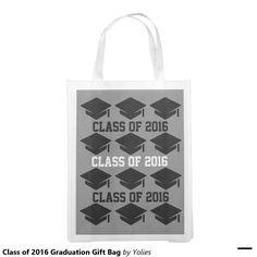 Class of 2016 Graduation Gift Bag Reusable Grocery Bags