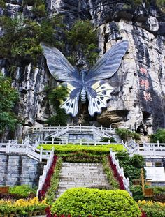 Butterfly Spring is a shallow pool that periodically swarms with countless butterflies. Dali, China