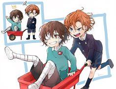 Dazai x Chuuya Manga Anime, Anime Demon, Dazai Bungou Stray Dogs, Stray Dogs Anime, Satsuriku No Tenshi, Fanart, Dazai Osamu, Anime Ships, Character Concept