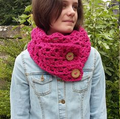Chunky Crochet Scarf Crochet Knit Scarf Chunky by knittyvikki
