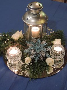 Centerpieces From Our 25th Anniversary Party Also Perfect For A Winter Wedding