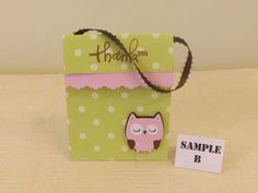 Baby Shower Owl Party Favor Bag with Ribbon Handle - Girl (Matches Baby Girl Owl Set). $1.25, via Etsy.