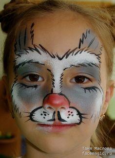 Hare. Face paint by Tanya Maslova.