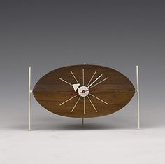 George Nelson, Watermelon Table Clock For The Howard Miller Clock Company,  1954.
