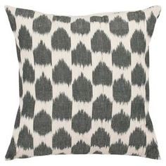 Two ikat-inspired cotton pillows.  Product: Set of 2 pillowsConstruction Material: 100% CottonColor: Charcoal and beigeFeatures: Made in IndiaCleaning and Care: Dry cleaning recommended