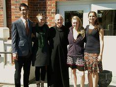 2013 Benedictine Volunteer Group Zack Taylor, Stephanie Crillo, Father Christopher Kirchgessner, Deborah Noga, and Katherine  Chatelain
