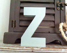 Freistehende hölzerne Hochzeit Buchstaben 'Z' - 20cm - Ariel Style Font