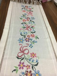 Beautiful floral cross stitch |