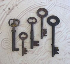 5 skeleton keys key collection 8 skelton keys by anythinggoeshere, $10.00