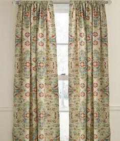 Nicole Miller Marchesa Paisley Medallion Pair Of Curtains
