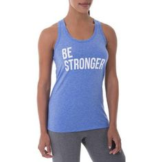 Danskin Now Women's Active Fitspiration Graphic Racerback Tank - Walmart.com