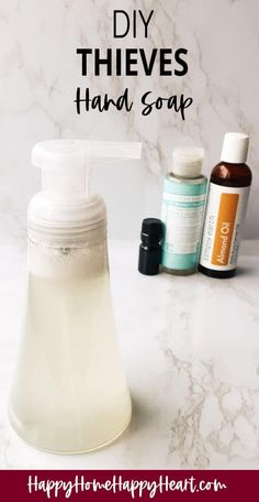 I love Thieves products but I don't love the price. This diy Thieves hand soap is amazing & it costs less than $2.50 to make!