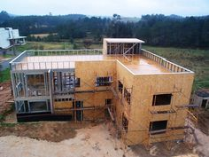 Gallery of Steel Frame and Wood Frame: The Benefits of Dry Construction Systems - 8 Steel Frame House, Steel House, Steel Wall, Light Steel Framing, Building Foundation, Steel Frame Construction, Building Concept, House Roof, Modern House Design