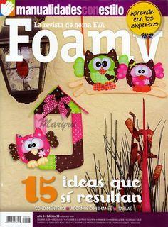 Revistas de manualidades Gratis: Revistas gratis manualidades con estilo Foam Crafts, Crafts To Make, Arts And Crafts, Paper Crafts, Diy Crafts, Magazine Crafts, Decoupage, Projects To Try, Quilts