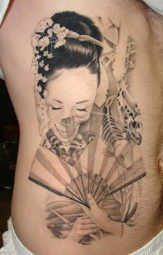 Image detail for -Geisha Japanese Black Ink Tattoo Design - Japanese Geisha Tattoo ...