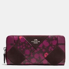 Coach Accordion Zip Wallet In Patchwork Leather