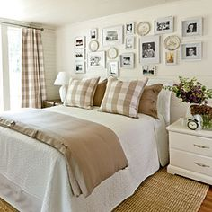 Khaki Gingham Bedroom | SouthernLiving.com | #SLIdeaHouse