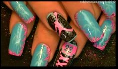 Jordan Nails , the blue ones have palm trees. CUTE ☆ 23 To Dope !