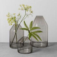 Hearth & Hand with Magnolia Smoke Glass Jug Vase