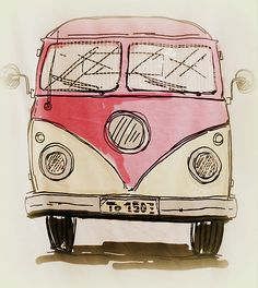 VW camper van by ©The Creative Minds Art & Photography  drinkpinkwithdee.com