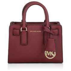 MICHAEL Michael Kors Dillon TZ XS Crossbody Cherry Bag found on Polyvore featuring bags, handbags, shoulder bags, red, red cross body purse, red handbags, summer purses, crossbody purse and red purse