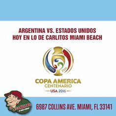 HOY!!! Alentamos a la selección en Lo de Carlitos Miami Beach!  Los esperamos en 6987 Collins Ave