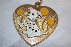 Vintage Disney 101 Dalmations Heart Pendant by IntoTheWardrobe, $4.00