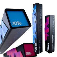 unique modern metal trophies awards corporate recognition
