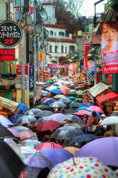 Colorful umbrellas in Tokyo, Japan - Visit http://asiaexpatguides.com to make the most of your experience in Japan!