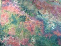 "Fabric hand dyed muslin 44"" wide 1 yard flower garden great adirondack by SweetHorseDesignCo on Etsy"