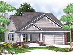 Eplans Bungalow House Plan - Quaint and Charming with Craftsman Porch - 1348 Square Feet and 2 Bedrooms from Eplans - House Plan Code HWEPL10012