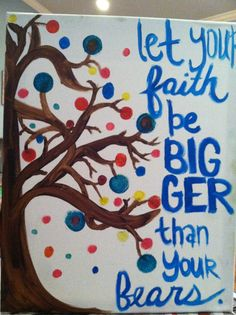 Bible verse canvas unique tree by OBWDesigns on Etsy, $15.00