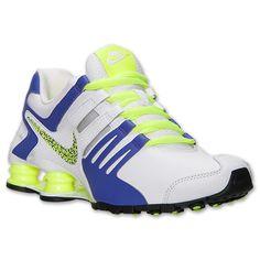 Womens Nike Shox Current Running Shoes - 639657 105 | Finish Line | White/Hyper Grape/Black/Volt