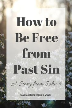 Learn how the story of the woman at the well in John 4 can set you free from past sin. Women Of Faith, Faith In God, Faith Walk, Christian Living, Christian Faith, Christian Verses, Christian Women, Spiritual Growth, Spiritual Life